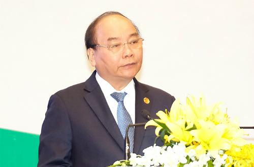 Thủ tướng Nguyễn Xuân Phúc phát biểu khai mạc kỳ họp GEF 6. Ảnh: Nguyễn Đông.