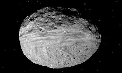 Tiểu hành tinh Vesta lớn gấp 4 lần nước Anh. Ảnh: NASA.