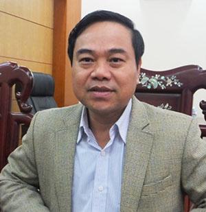 Ông Phạm Đăng Nhật - Chủ tịch huyện Cẩm Xuyên. Ảnh: Thanh Nga