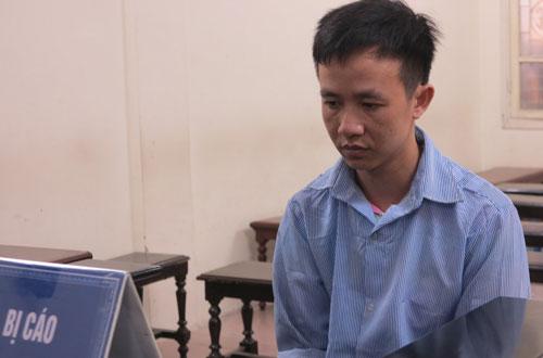 Bị cáo Nguyễn Văn Hưng tại phiên tòa sơ thẩm.
