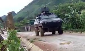 Hàng trăm cảnh sát cùng xe bọc thép vây bắt trùm ma túy ở Sơn La