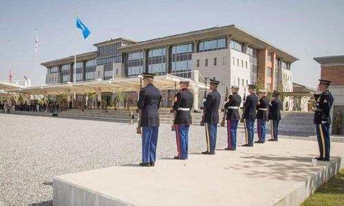 Lễ khánh thành trụ sở mới của USFK ở tỉnh Pyeongtaek ngày 29/6. Ảnh: Yonhap.