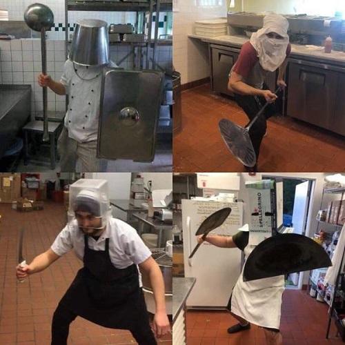 Cuộc chiến trong nhà bếp.