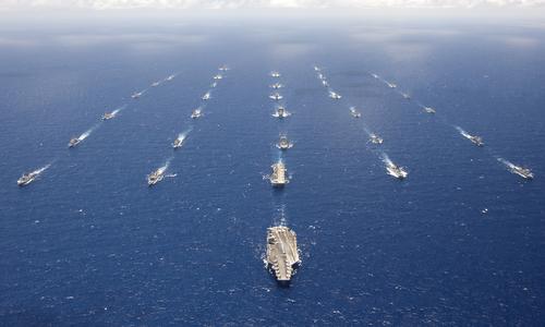 Các tàu chiến tham gia RIMPAC 2012. Ảnh: US Navy.