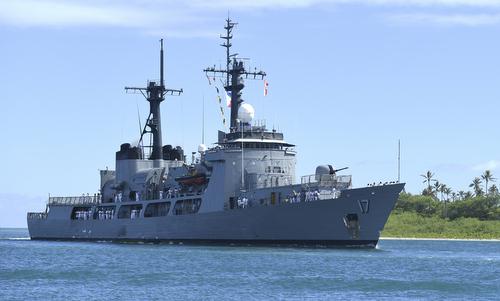 Tàu chiến Philippines tới Trân Châu Cảng hôm 27/6. Ảnh: US Navy.