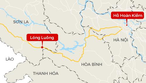 Lóng Luông cách Hà Nội khoảng 170 km.