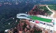 Cầu đáy kính hình móng ngựa cao nhất thế giới ở Trung Quốc