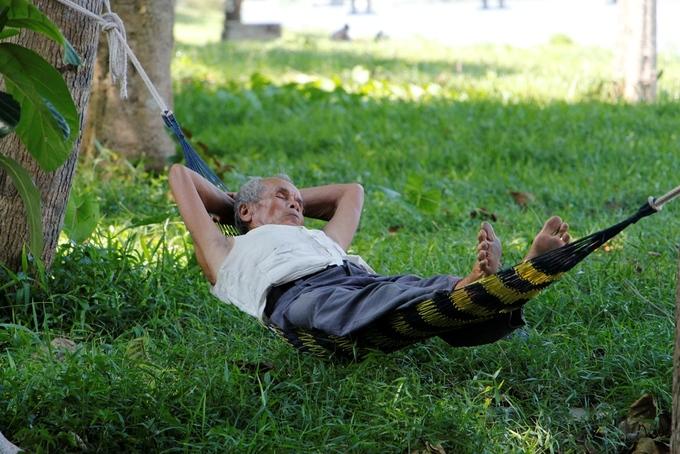 Người dân Huế trốn nóng trong công viên