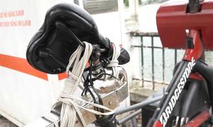 Dàn xe đạp lọc nước ở Hà Nội hư hỏng sau gần 8 tháng sử dụng