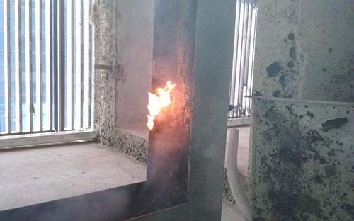 Hiện trường đám cháy.