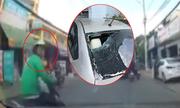 Tài xế ôtô truy đuổi kẻ đập vỡ kính xe qua nhiều tuyến đường Sài Gòn