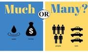 Trắc nghiệm phân biệt 'much' và 'many'