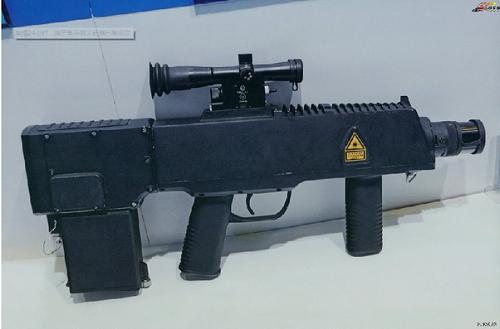 Một Mẫu súng laser cầm taycủa Trung Quốc. Ảnh:China Daily.