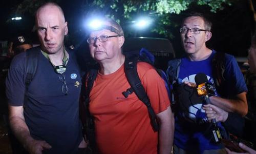 Ba chuyên gia hang động người Anh Richard Stanton, Robert Harper và John Volanthen. Ảnh: AFP.