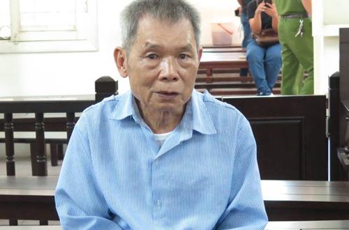 Bị cáo Hợi tại phiên tòa sơ thẩm.
