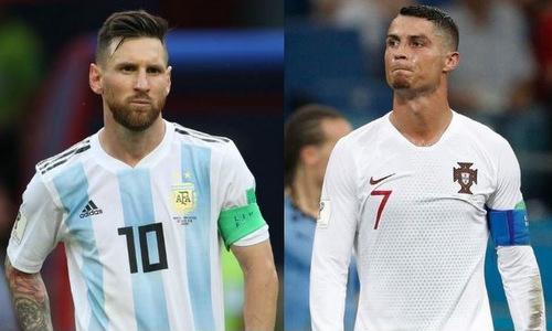 Messi và Ronaldo trong màu áo đội tuyển quốc gia tại World Cup 2018. Ảnh: Marca.