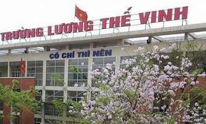 Trường Lương Thế Vinh chỉ trả một phần tiền khi rút hồ sơ tuyển sinh