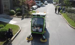 Xe quét rác đường phố không người lái