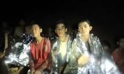 Đội bóng nhí Thái Lan cười lạc quan khi chờ được giải cứu