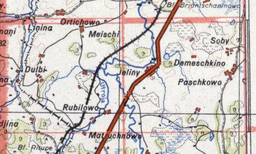 Khu vực làng Demeschkino (Demeshkovo), nơi diễn ra cuộc tử thủ. Ảnh: War History.