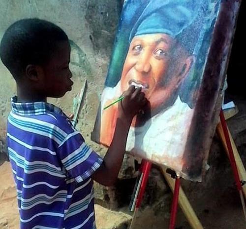 Kareem mong trở thành họa sĩ nổi tiếng thế giới. Ảnh: Instagram
