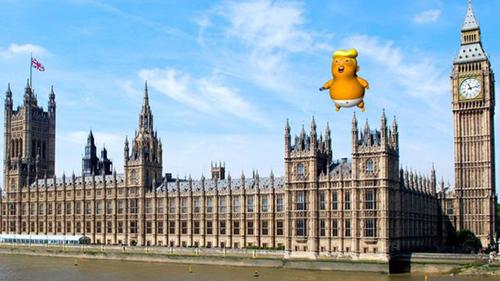 Bóng khổng lồ hình Trump được cấp phép bay khi tổng thống Mỹ thăm London