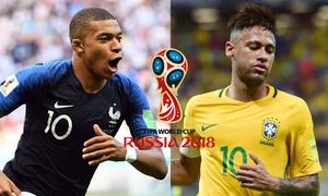 Gà trống chọn Pháp thắng, Neymar xách vali về nước
