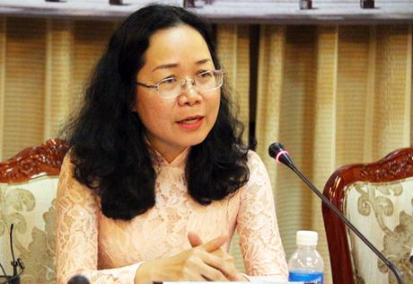 Chánh văn phòng Thành ủy TP HCM Thái Thị Bích Liên. Ảnh: Hữu Công