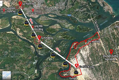 Phối cảnh dự án cáp treo dài hơn 7 km. Ảnh: NVN.