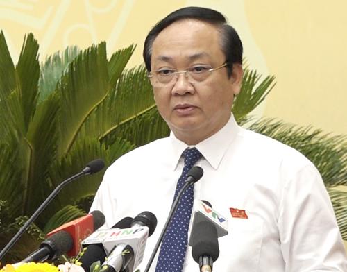 Phó chủ tịch UBND TP Hà Nội Nguyễn Thế Hùng. Ảnh: Lộc Chung.