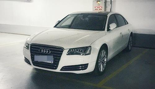 Chiếc xe sang Audi bị thu giữ. Ảnh: C.A