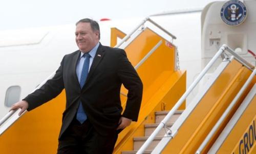 Ngoại trưởng Mỹ Pompeo đến Hà Nội chiều nay. Ảnh: Reuters.