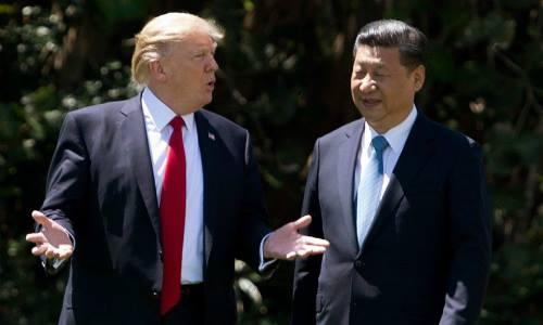 Tổng thống Mỹ Donald Trump và Chủ tịch Trung Quốc Tập Cận Bìnhở Mar-a-Lago, Florida, tháng 4/2017. Ảnh: AFP.
