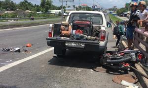 Xe tải đâm 2 mẹ con tử vong trên cầu Cần Thơ