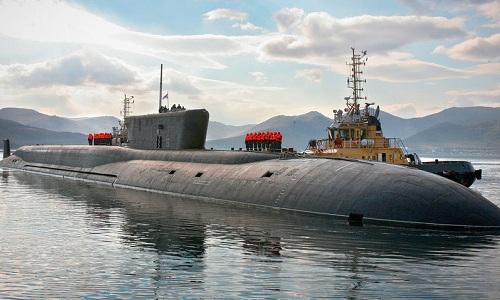Một tàu ngầm lớp Borei của hải quân Nga. Ảnh: RBTH.