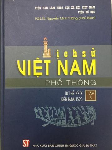 Sách Lịch sử Việt Nam phổ thông tập 3 bị tạm dừng phát hành. Ảnh: KMS.
