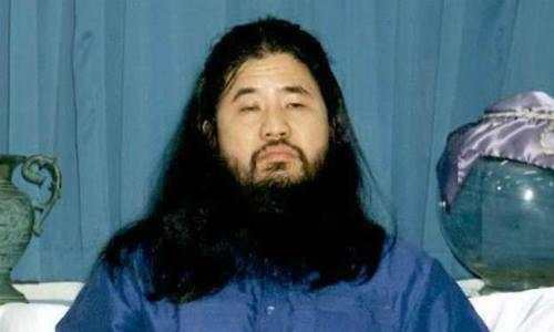 Shoko Asahara, người đứng đầu giáo phái Aum. Ảnh: AFP.