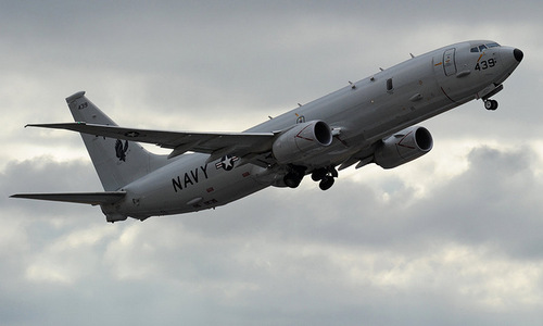 Máy bay P-8A Poseidon của hải quân Mỹ. Ảnh:AFP.