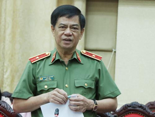 Giám đốc công an TP Hà Nội Đoàn Duy Khương. Ảnh: Võ Hải.