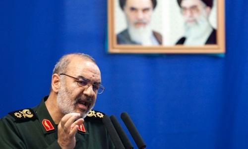 Phó tư lệnh lực lượng Vệ binh cách mạng Iran, trung tướng Hossein Salami. Ảnh:Reuters.