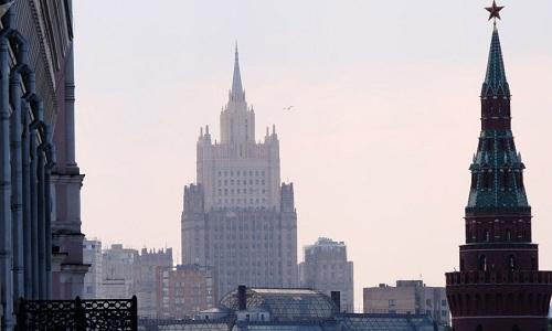 Trụ sở Bộ Ngoại giao Nga ở Moskva. Ảnh: Spunik.