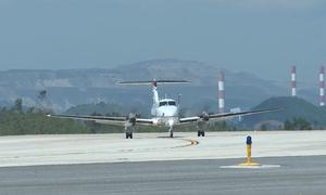 Sân bay Vân Đồn đón chuyến bay đầu tiên