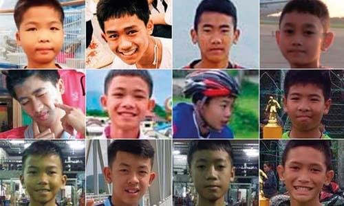 12 thiếu niên thuộc đội bóng nhí Lợn Hoang đều được giải cứu thành công. Ảnh: Guardian.