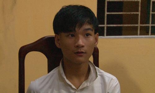 Trần Quang Huy tại cơ quan điều tra. Ảnh: Lê Dương