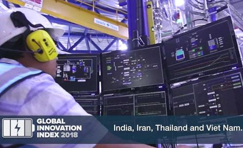 Việt Nam được đánh giá là quốc gia liên tục thăng hạng trong bảng xếp hạng. Ảnh:WIPO.