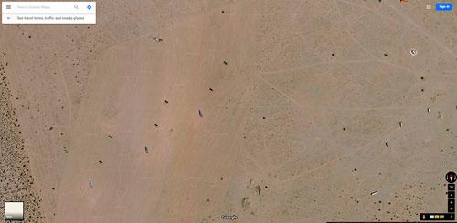 Các mục tiêu trong cuộc thử nghiệm rất dễ quan sát bằng mắt thường, dường như nhằm hỗ trợ F-35 sử dụng hệ thống ngắm mục tiêu quang điện tử. Ảnh: POGO.