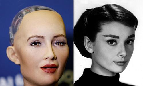 Diện mạo của Sophia được lấy cảm hứng từ ngôi sao điện ảnh Audrey Hepburn. Ảnh:IAM AKM.