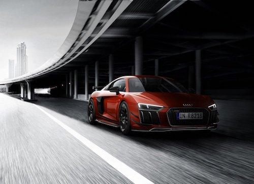 Gói phụ kiện khiến Audi R8 thay đổi nhẹ ở diện mạo. Ảnh: Leftlanenews.