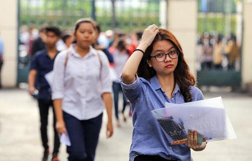 Thí sinh dự kỳ thi đánh giá năng lực vào đại học tại TP HCM. Ảnh: Quỳnh Trần.