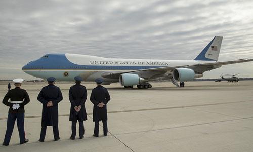 Chuyên cơ Không lực Một của tổng thống Mỹ. Ảnh: AP.